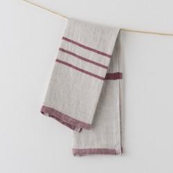 serviette PM lin gris bordeaux de chez Lapuan Kankurit