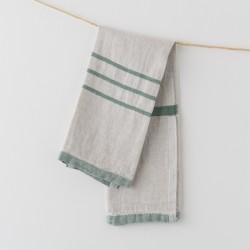 serviette PM lin gris vert de chez Lapuan Kankurit
