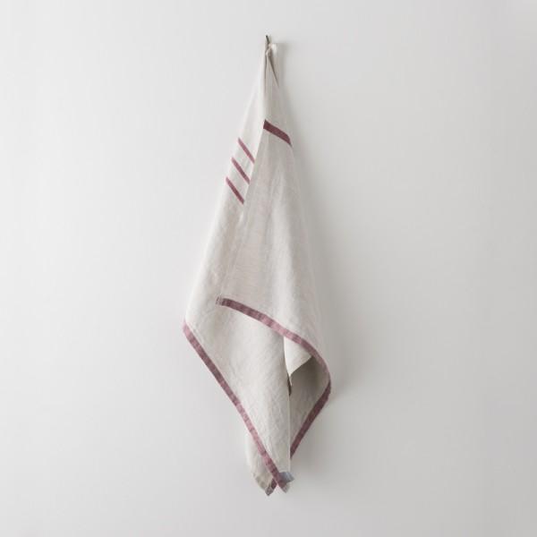serviette MM/GM lin gris bordeaux