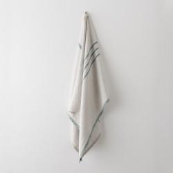 serviette MM/GM lin gris vert de chez Lapuan Kankurit