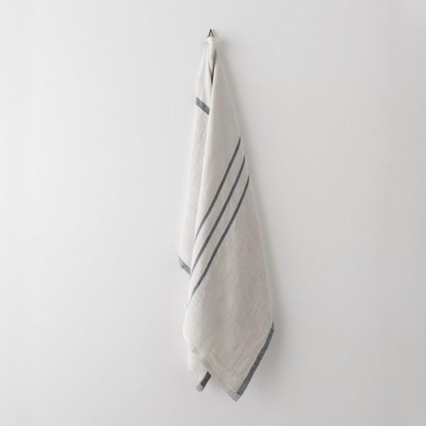 serviette MM/GM lin gris noir