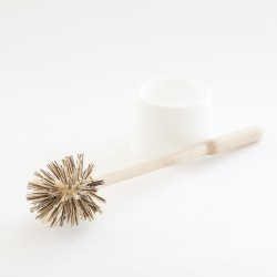 brosse WC Iris Hantverk en bouleau huilé et poils en mélange bassine chiendent