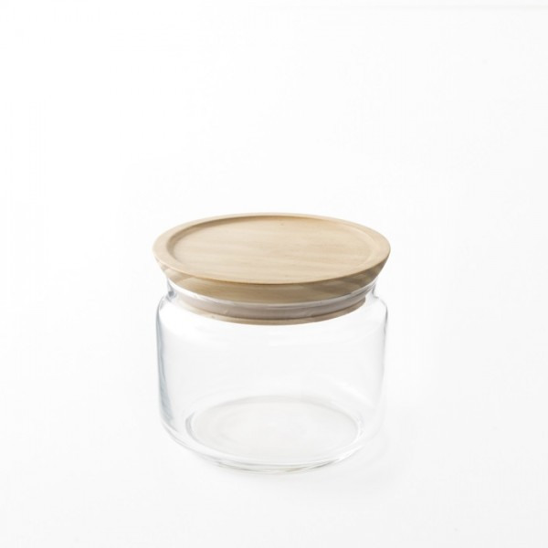Contenant bocal en verre hermétique 0.5l pour épicerie en vrac