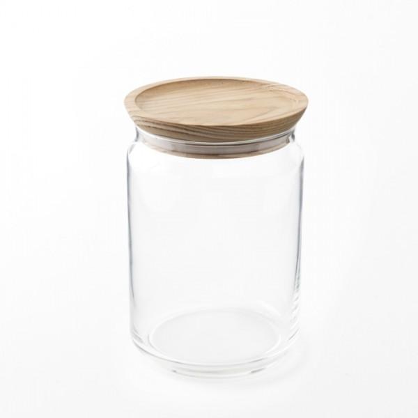 Contenant bocal en verre hermétique 1l pour épicerie en vrac
