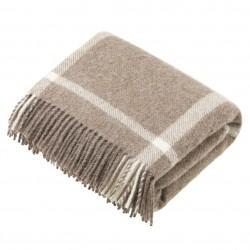 plaid laine naturelle carreaux beiges