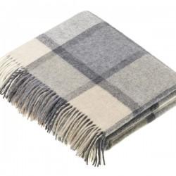 plaid laine Lambswool carreaux naturels