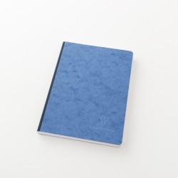 Cahier A5 toilé ligné couverture parchemin bleu