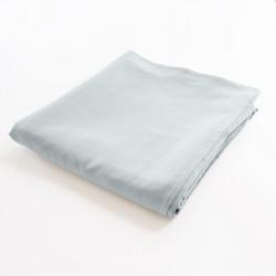 drap de lit plat 100% lin bleu glacier