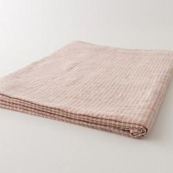 nappe en lin duo poterie rayé blanc de chez Charvet Editions