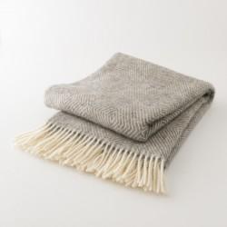 plaid laine naturelle losanges gris Lapuan Kankurit