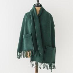 châle en laine vert Lapuan kankurit