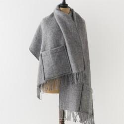 châle en laine gris Lapuan kankurit
