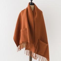 châle en laine cannelle Lapuan kankurit