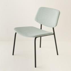 fauteuil Easy tube noir + choix tissu celadon