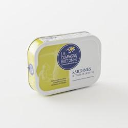 sardines à l'huile d'olive bio de chez Compagnie Bretonne