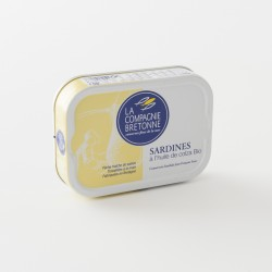 sardines à l'huile de colza bio de chez Compagnie Bretonne