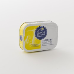 sardines à l'huile d'olive bio et au citron de chez Compagnie Bretonne