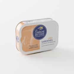sardines au beurre de baratte bio par La Compagnie Bretonne