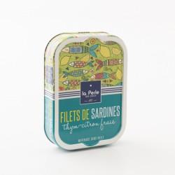 filets de sardines sans huile au thym et au citron frais de La Perle Des Dieux