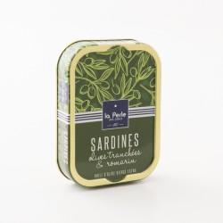 Sardines aux olives tranchées et au romarin par La Perle Des dieux