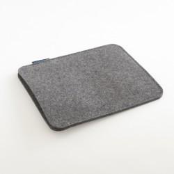 Etui iPad Feutre gris foncé woolmark