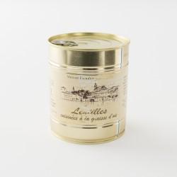 Lentilles cuisinées à la graisse de canard de la maison Escudier à Castenaudary en boite de 820 g