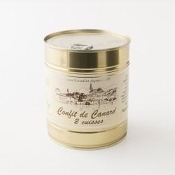 Deux cuisses de canard confites de la maison Escudier à Castelnaudary boite de 765 g
