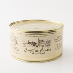 4 cuisses de canard confites de la maison Escudier de Castenaudary en boite de 1300g