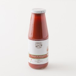 Purée de tomate bio de chez IRIS en bouteille de 690g