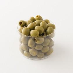 Olives vertes dénoyautées La Favorita Fish détail