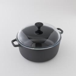 Cocotte ronde en fonte brute 5l