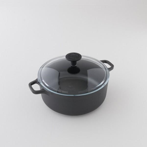 Cocotte ronde en fonte brute 3l
