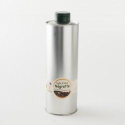 Huile d'olive vierge Négrette 1ere extraction à froid dans son bidon de 0.75L