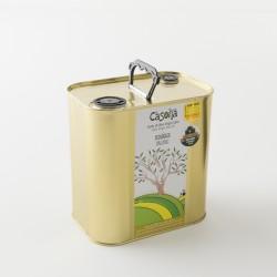 Huile d'olive bio Picual dans son bidon métal de 2.5L