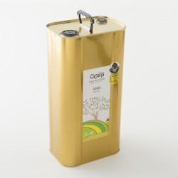Huile d'olive bio Picual dans son bidon métal de 5L