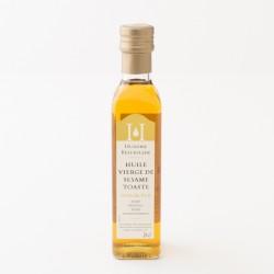 Huile de sésame toasté vierge en bouteille de 25 cl par l'Huilerie Beaujolaise