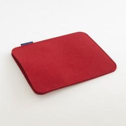 Etui iPad Feutre rouge scandinave woolmark