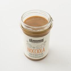 Nocciola purée de noisettes grillées bio Damiano en pot de  275g détail