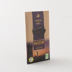 Chocolat noir bio 62% de cacao de chez Grain de Sail en tablette de 100 g