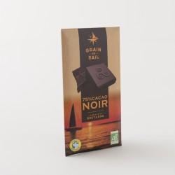 Chocolat noir bio 75% de chez Grain de Sail en tablette de 100 g