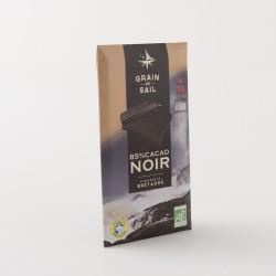 Chocolat noir bio 85% de cacao de chez Grain de Sail en tablette de 100 g