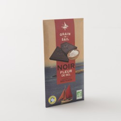 Chocolat noir bio à la fleur de sel de chez Grain de Sail en tablette de 100 g
