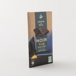 Chocolat bio noir bio au thé earl grey de chez Grain de Sail en tablette de 100 g