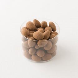 Amandes décortiquées enrobées de chocolats noir Damiano détail