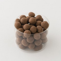 Noisettes décortiquées enrobées de chocolats noir Damiano détail