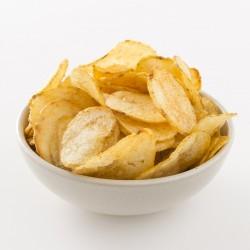 Chips artisanales Belsia à l'oignon rose Roscoff en situation