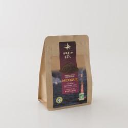 Café moulu bio du Mexique de chez Grain de Sail en paquet refermable de 250 g