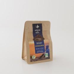 Café moulu bio du Honduras de chez Grain de Sail en paquet de 250 g