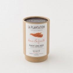 Piment long doux en poudre de la Plantation - conditionnement 50g