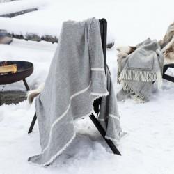 Plaids en laine et en lin